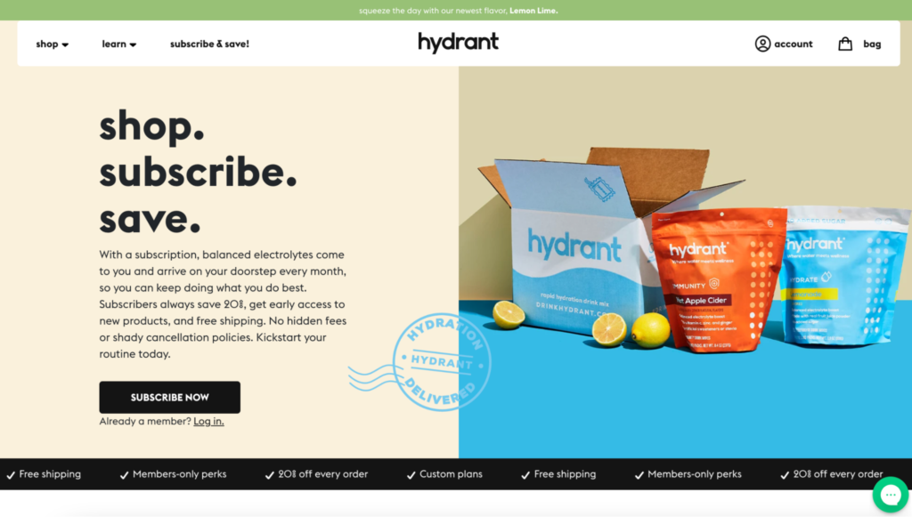 How to write the best subscription landing page - Hydrant